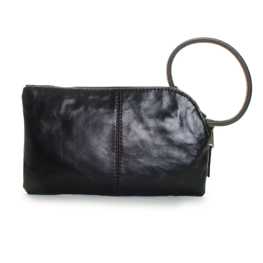 Sable Leather Wristlet Clutch Handbag