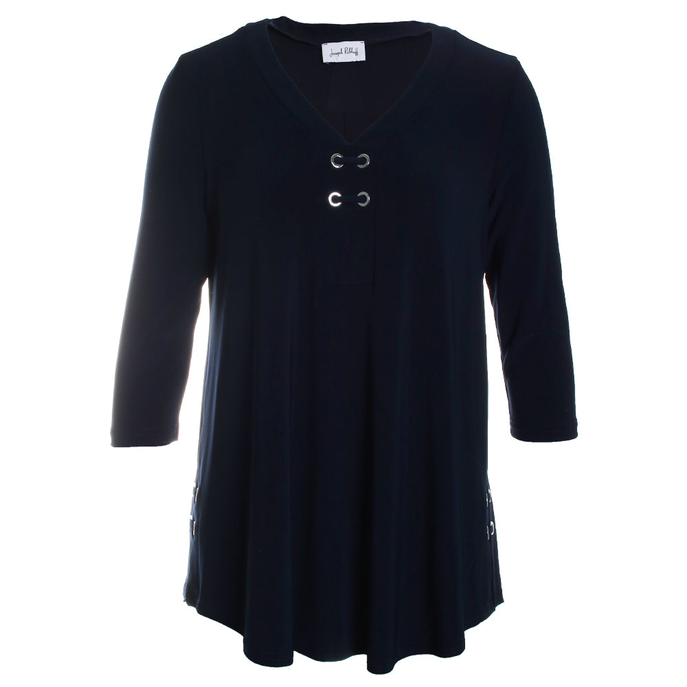 Grommet V-Neck Tunic