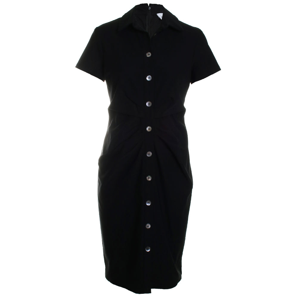 Ruched Button Dress