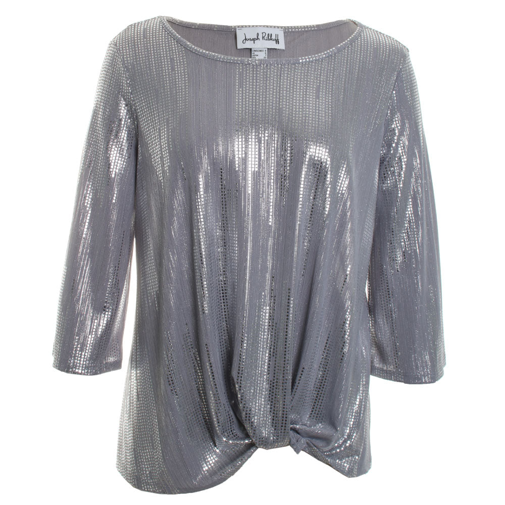 Shimmering Ruched Blouse