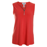 Zipper Tunic Tank Top
