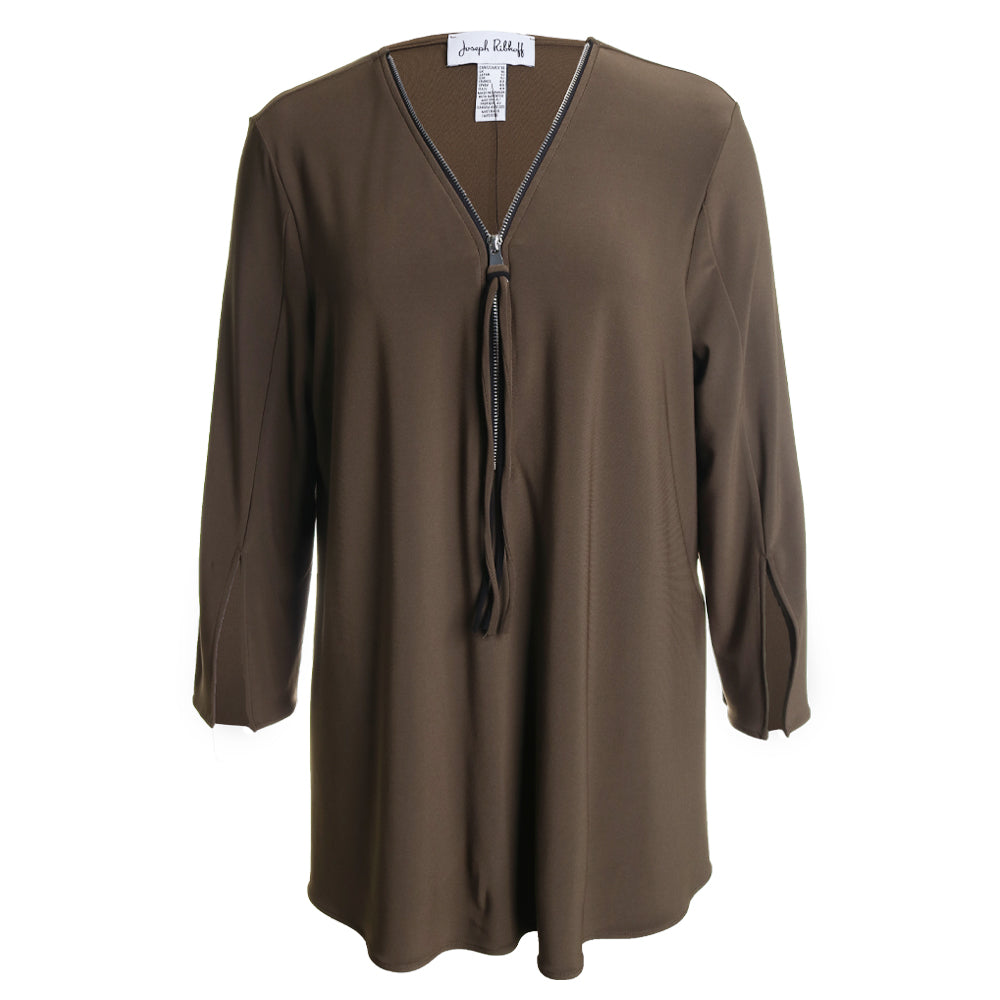 Zipper Tunic Top