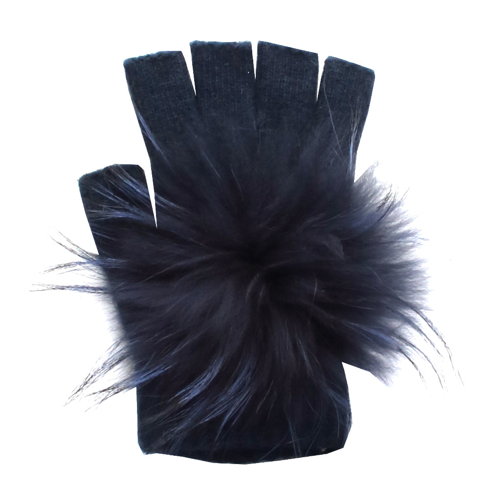 Pom Angora Fingerless Gloves