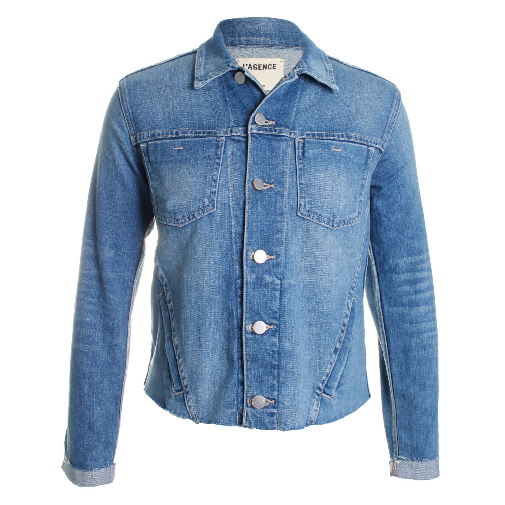 Janelle Slim Raw Denim Jacket