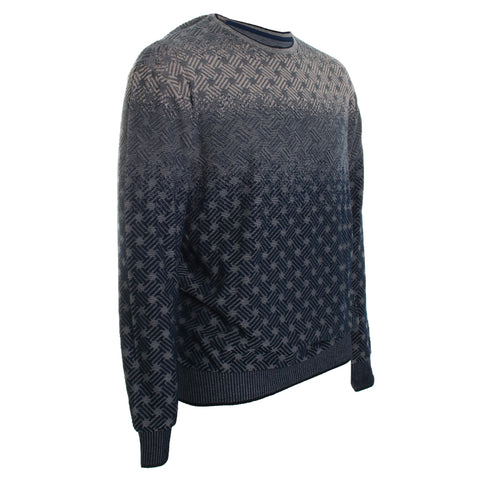 Abstract Crew Neck Sweater