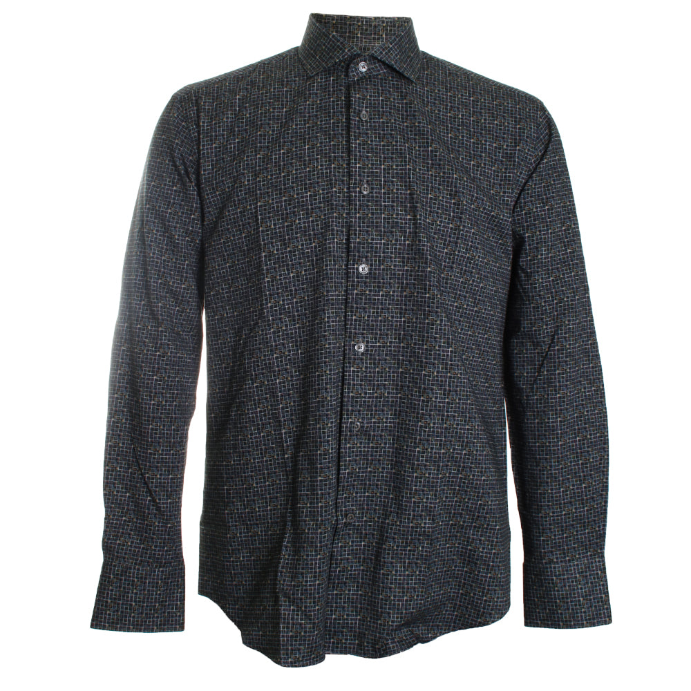 Geometric Printed Sport Shirt