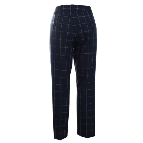 Alexia Windowpane Plaid Pant