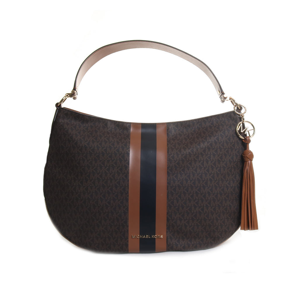 Brooke Large Logo Hobo Handbag