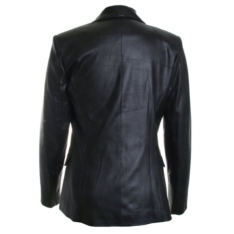 Double Breasted Pleather Blazer