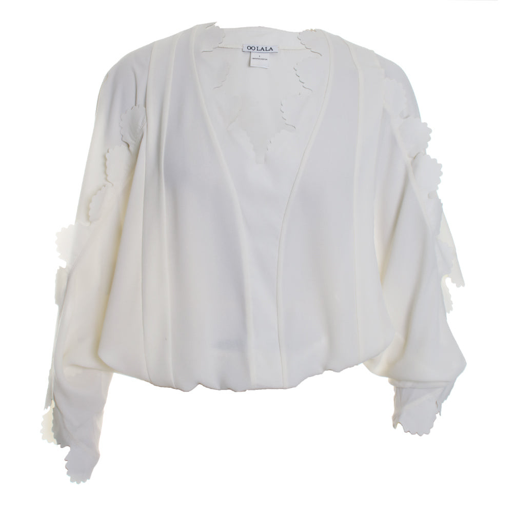Frill Scalloped Blouse