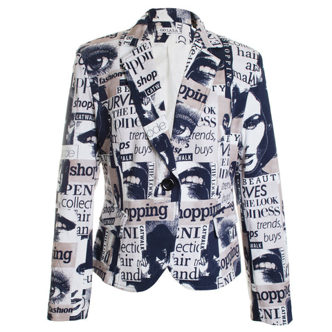 Fashion Newspaper Blazer