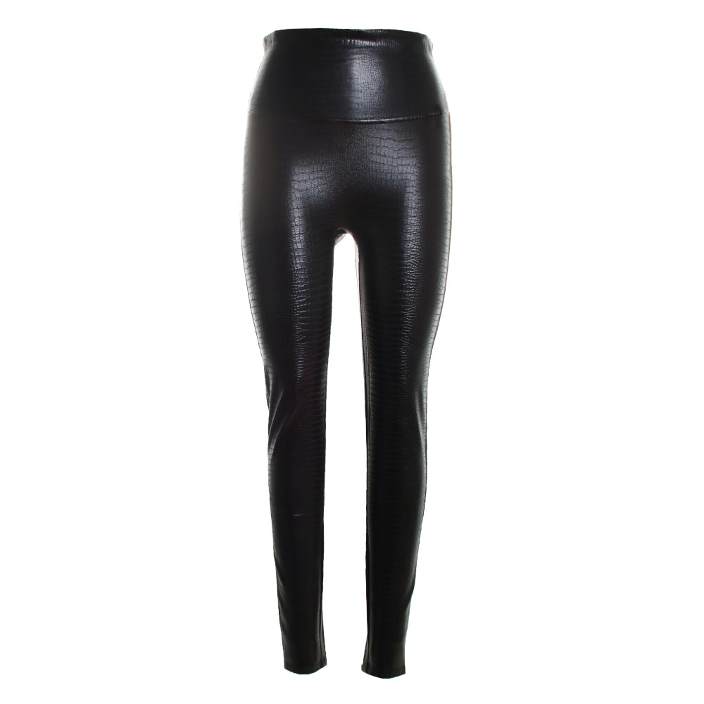 Faux Leather Crocodile Leggings