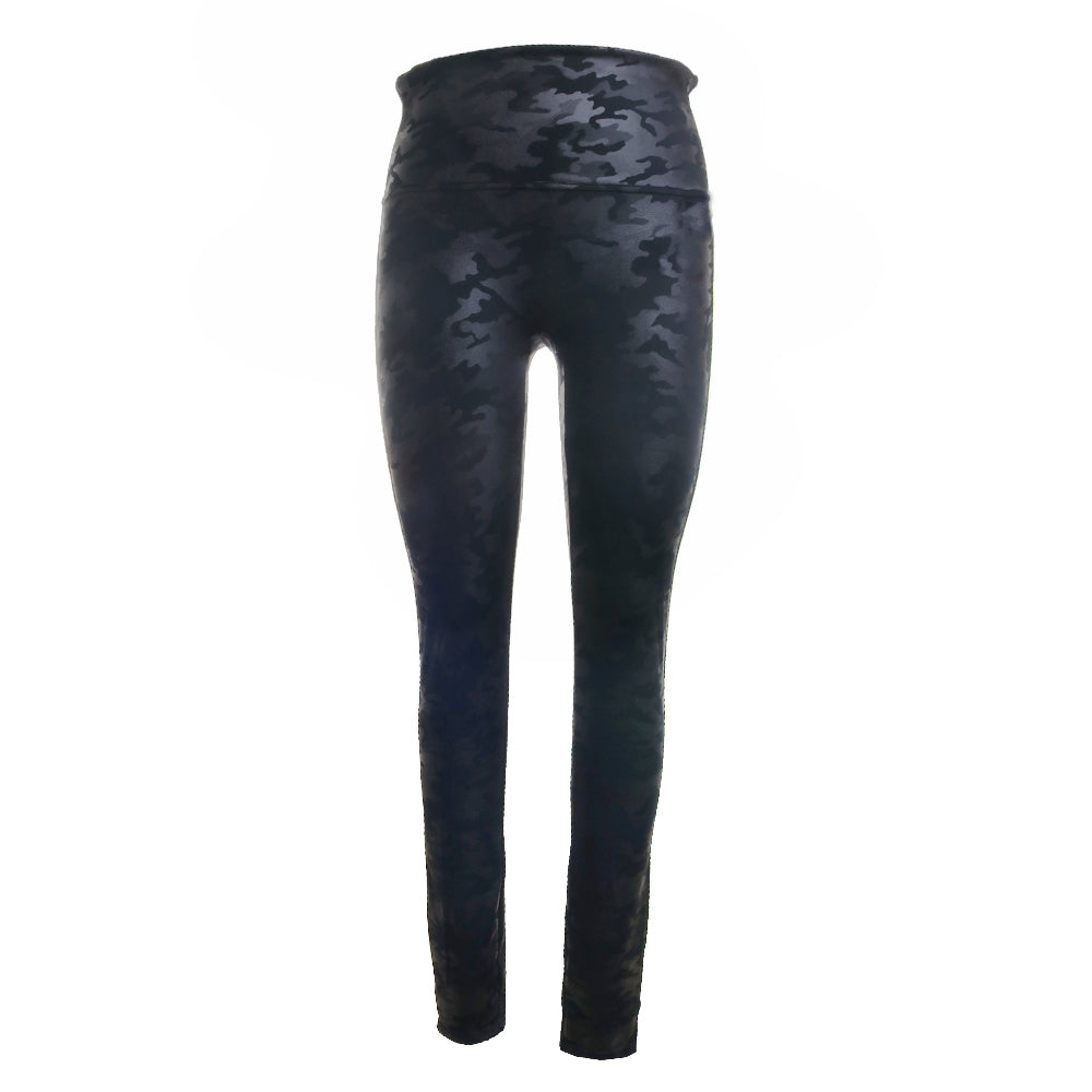 Faux Leather Camouflage Leggings
