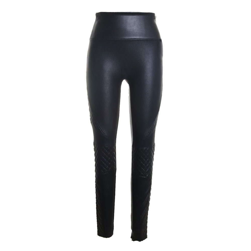 Quilted Faux Leather Leggings