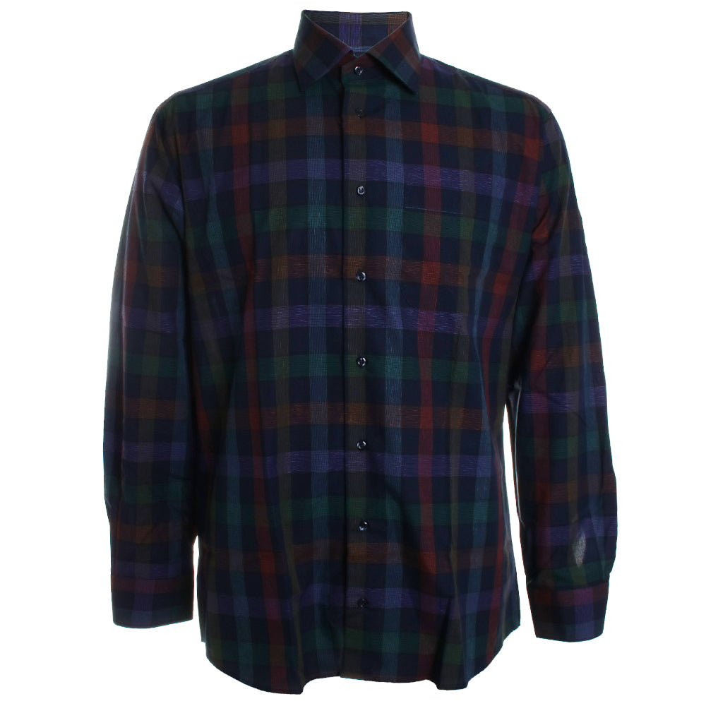Exploded Check Plaid Button Down Shirt