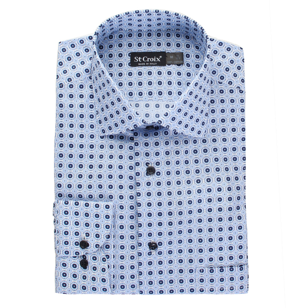 Geometric Print Dress Shirt