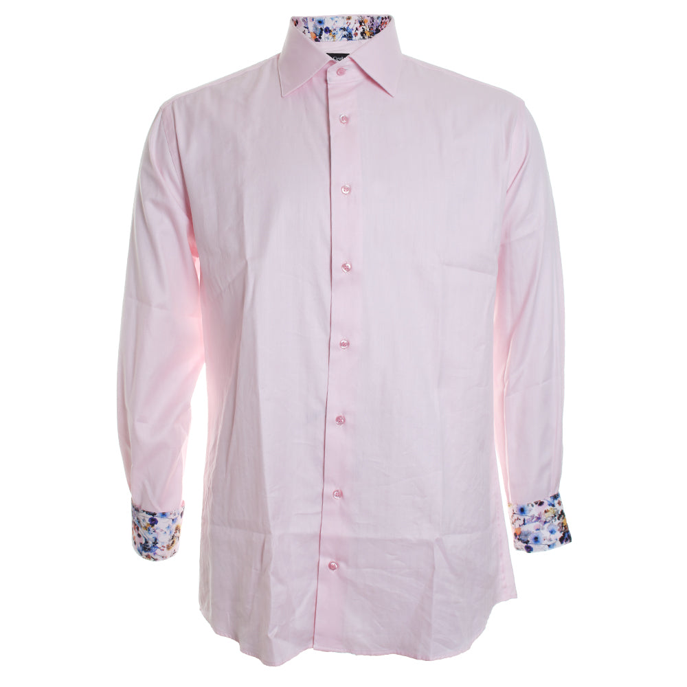 Solid Trim Button Down Shirt
