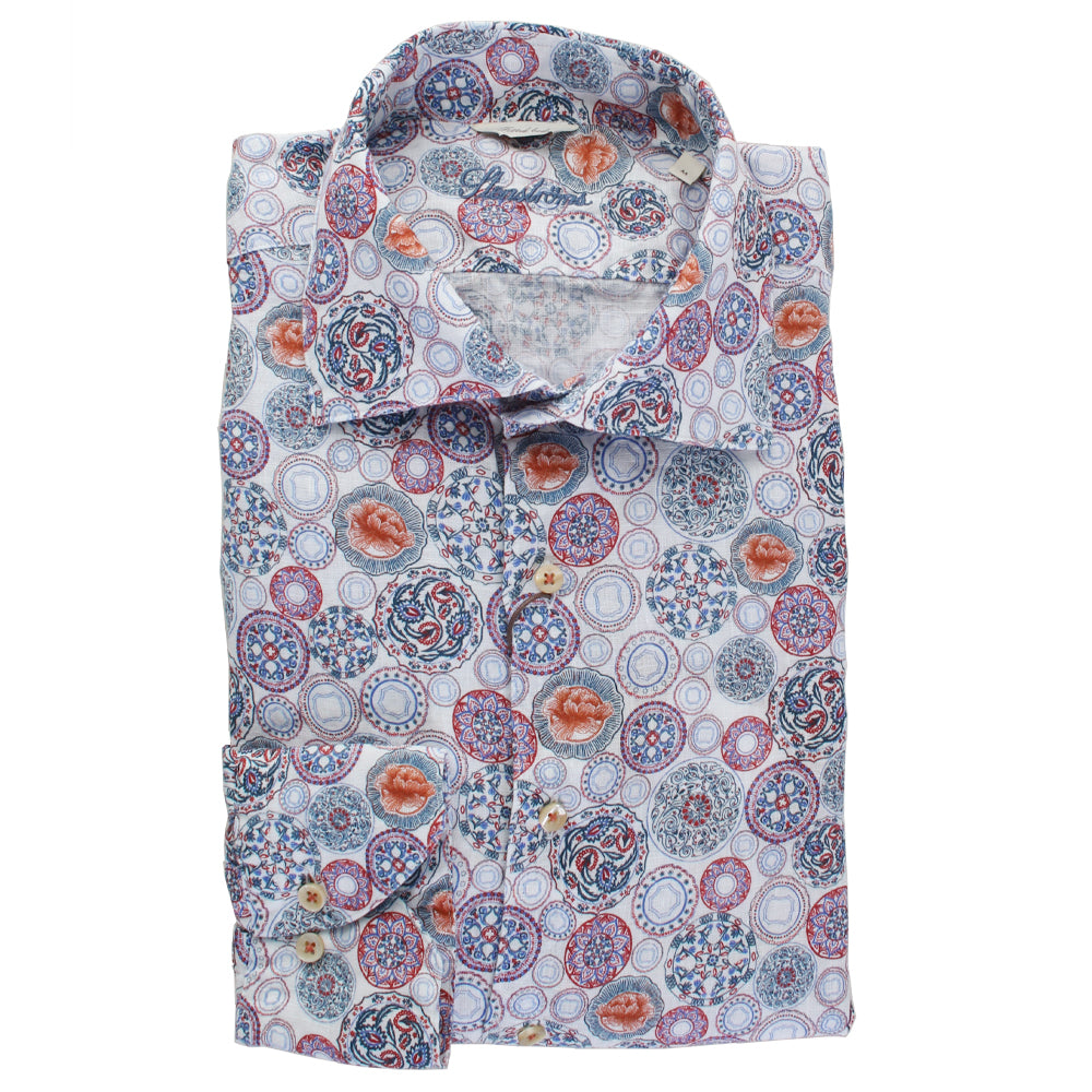 Printed Button Down Shirt