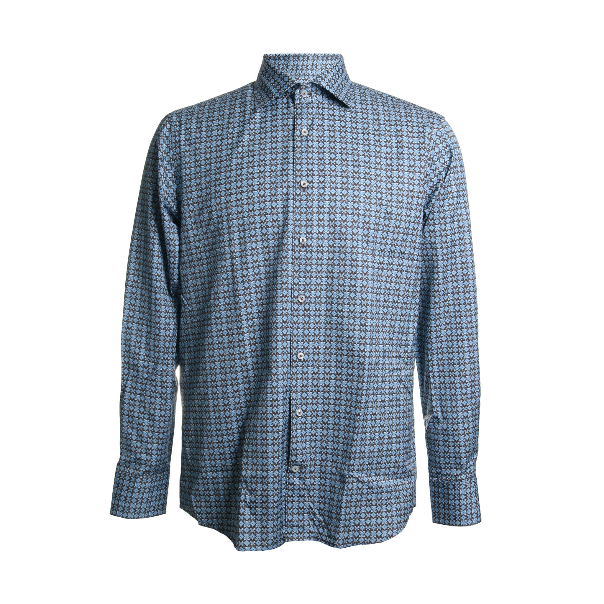 Kaleidoscope Cotton Button Down Dress Shirt