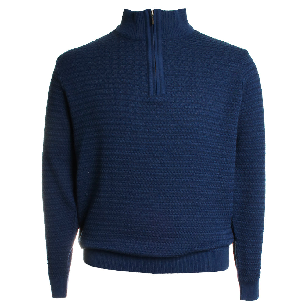 Mock Neck Quarter Zip Knit Sweater
