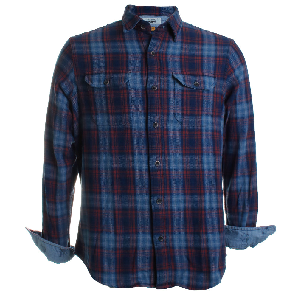 Heavy Twill Plaid Flannel Shirt