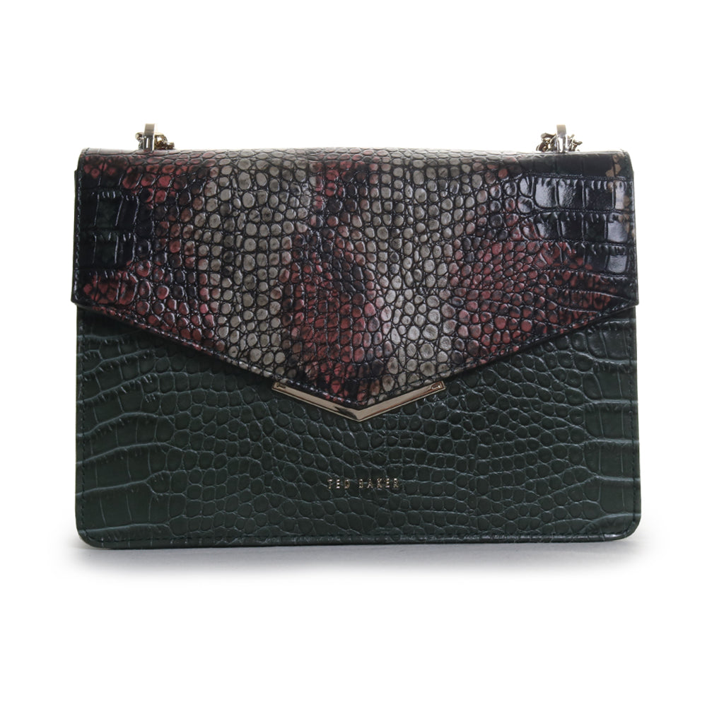 Gemmeh Crocodile Embossed Crossbody Bag