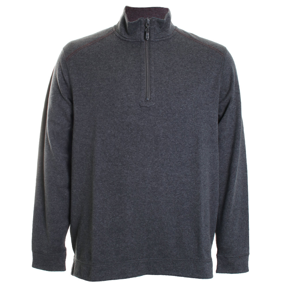 Alpine View Reversible Knit Quarter Zip Sweater