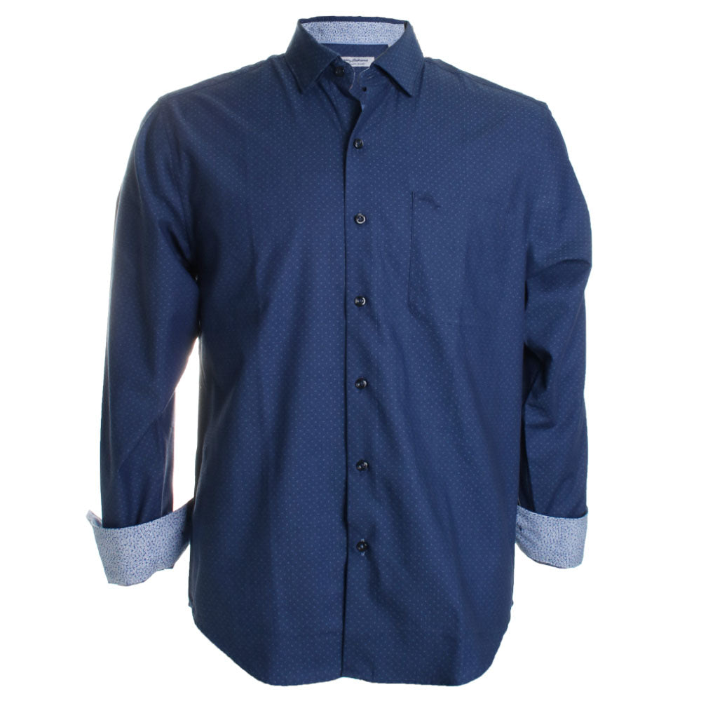 Newport Coast Indigo Diamond Button Down Shirt