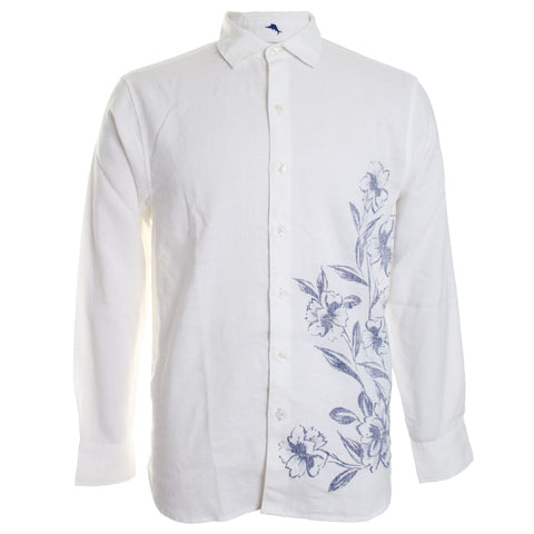 Ink Wash Floral Button Down