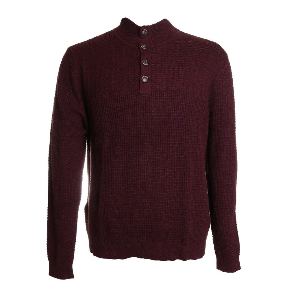 Isidro Button Mock Sweater