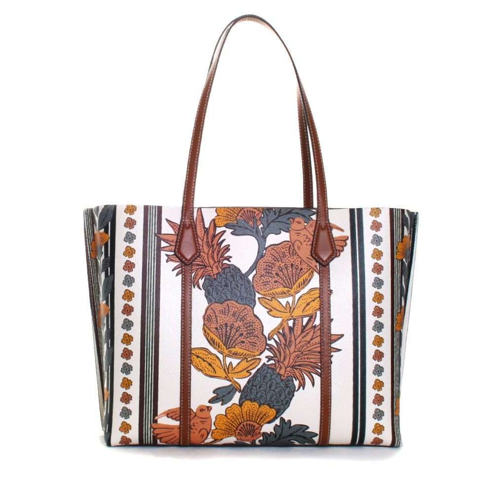 Perry Floral Printed Triple Compartment Tote Handbag