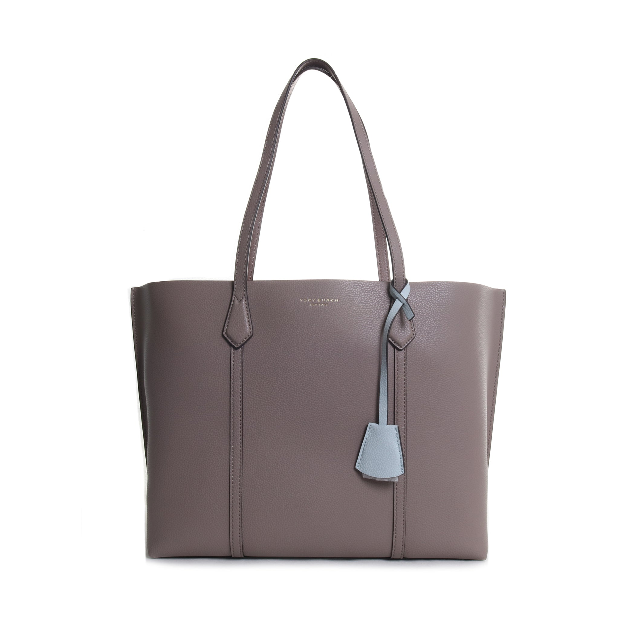 Perry Triple Compartment Leather Tote Bag