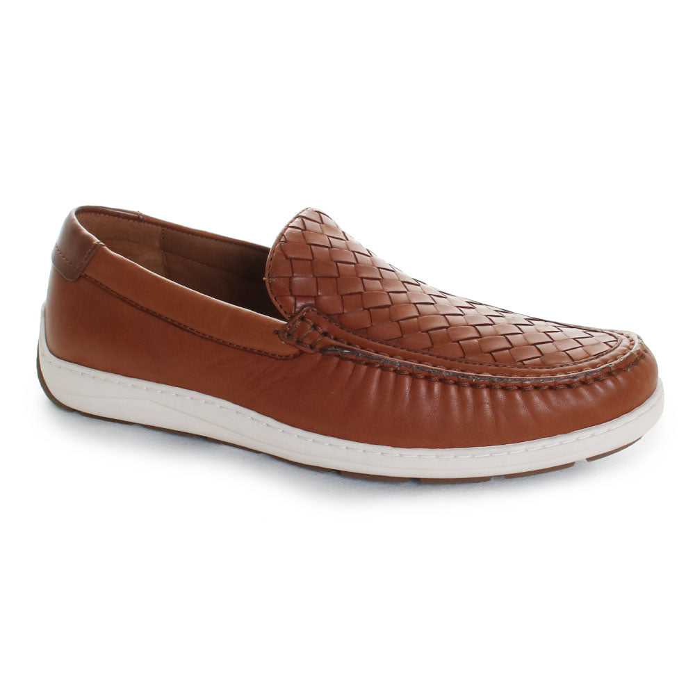 Silas Woven Leather Loafer