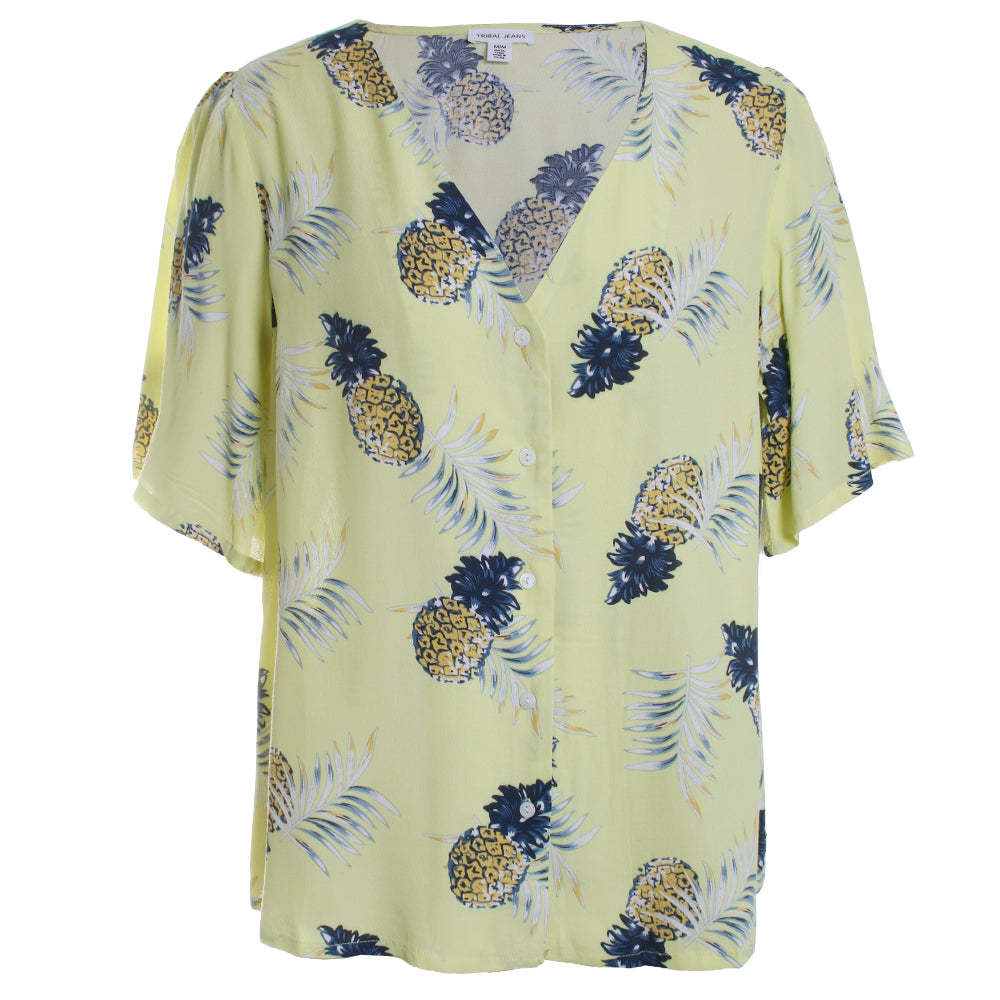 Bell Sleeve Pineapple Blouse