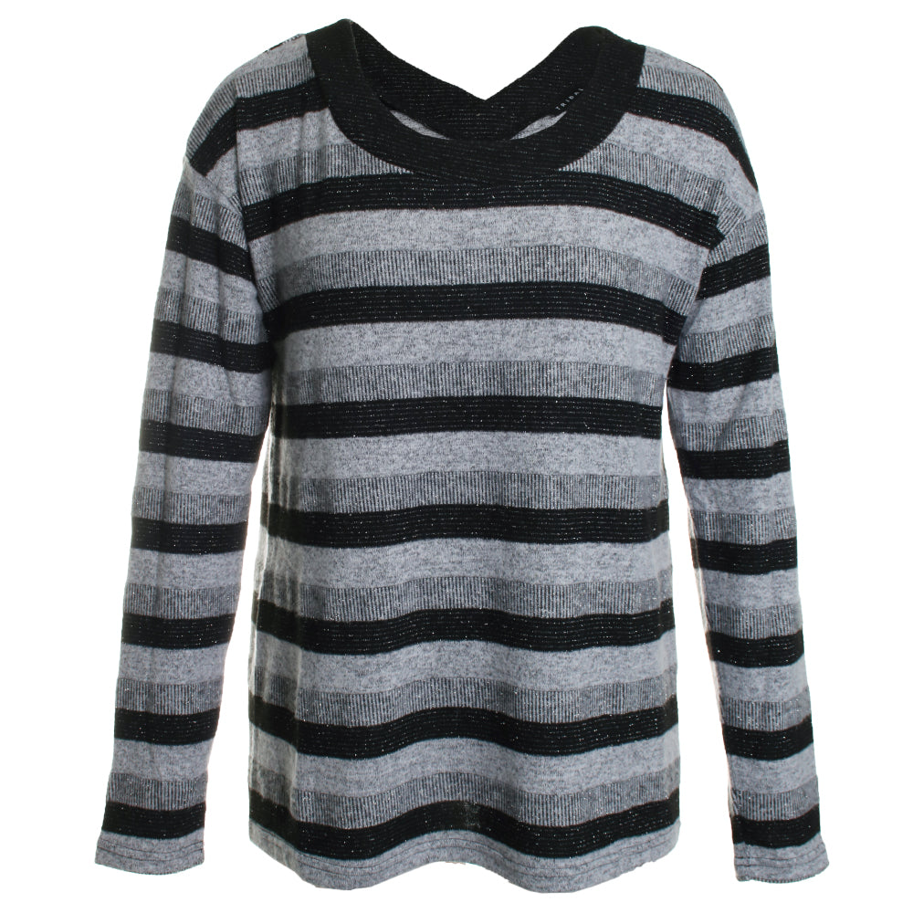 Fuzzy Soft Striped Top