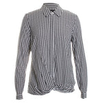 Houndstooth Twist Blouse