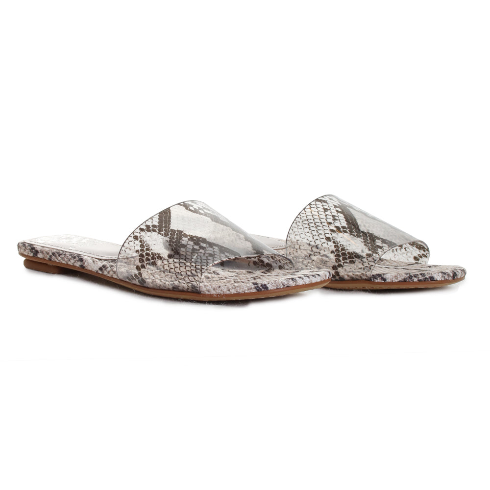 Prtindal Snake Transparent Slide Sandals
