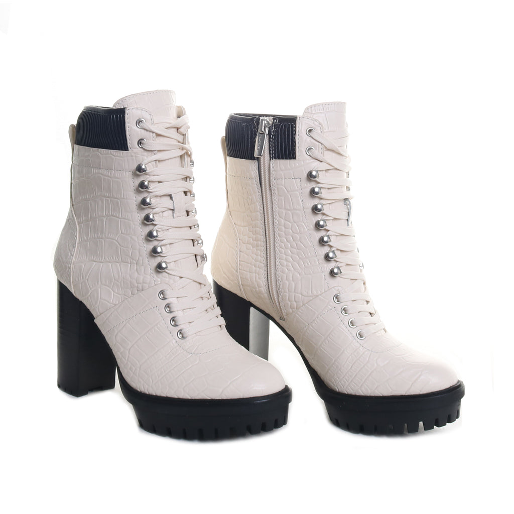 Ermania Lace-Up Platform Booties
