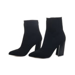 Setillen Block Heel Sock Booties
