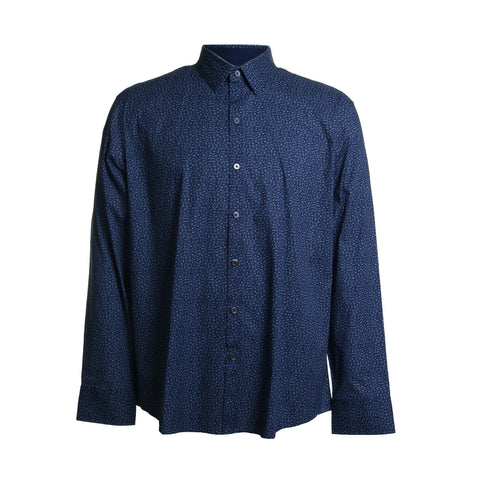 Nhien Microprint Button Down Shirt