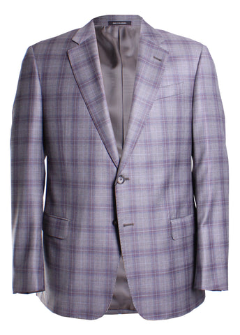 G-Line Trim Fit Windowpane Sport Coat