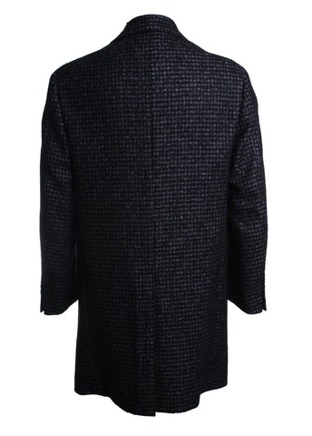 Checkered Wool Overcoat