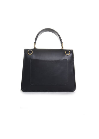 Parker Butterfly Top Handle Handbag in Black Multi