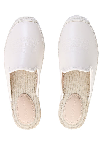 Cali Espadrille Slides in Chalk