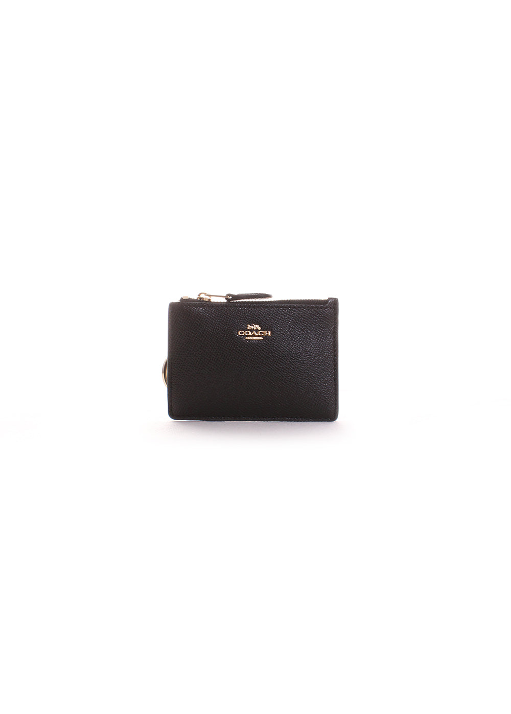 Coach Mini Skinny ID Case in Black/Light Gold