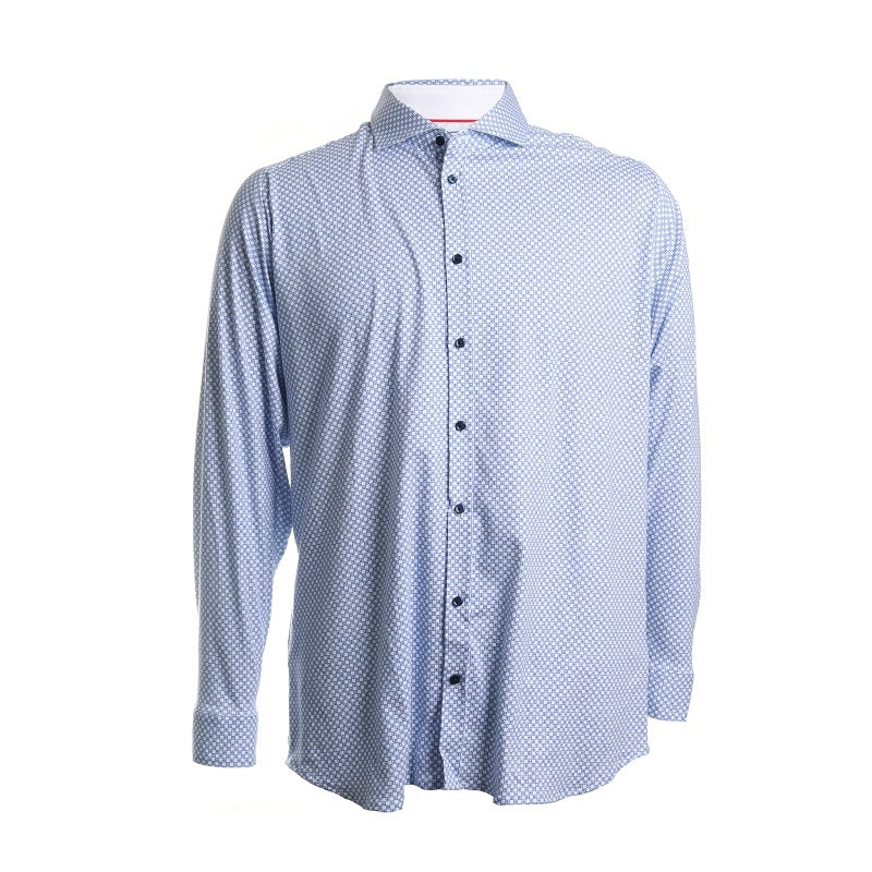 Printed Cotton Button Down Shirt