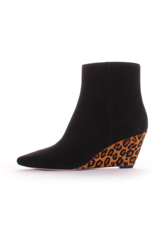 Jae Leopard Wedge Booties