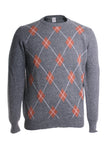 Eleventy Men's Argyle Sweater in Grey