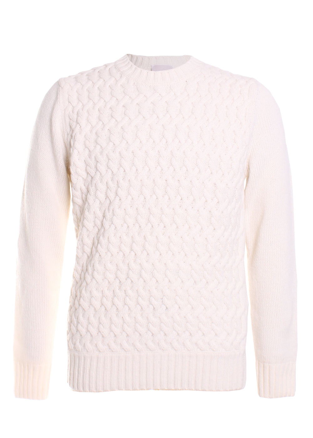 Eleventy Big Cable Sweater in Ivory