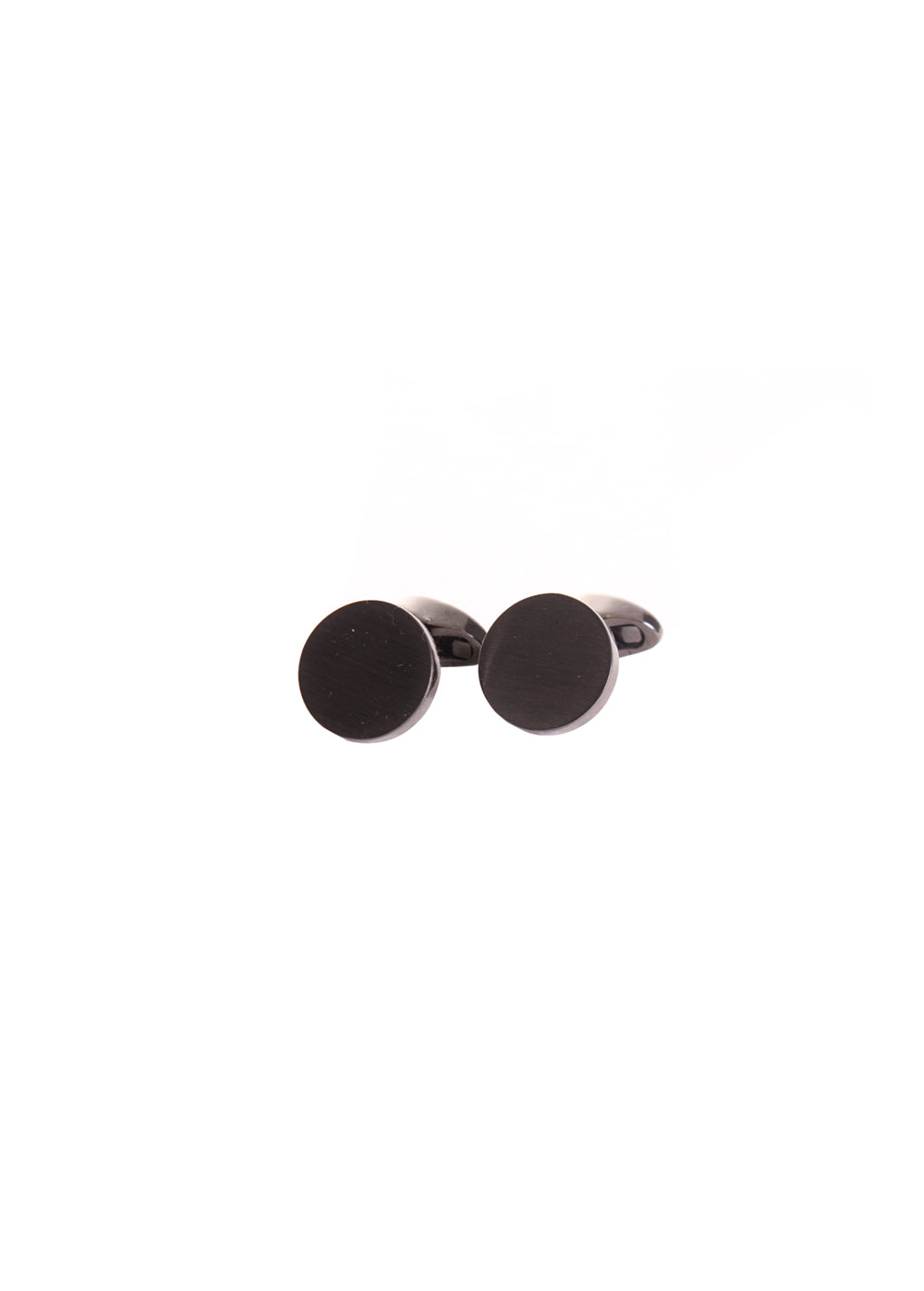 Classic Plain Steel Cufflinks